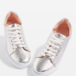 Topshop Cosmo Metallic Trainers Sneaker